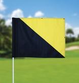 GolfFlags Golffahnen, semaphore, schwarz - gelb