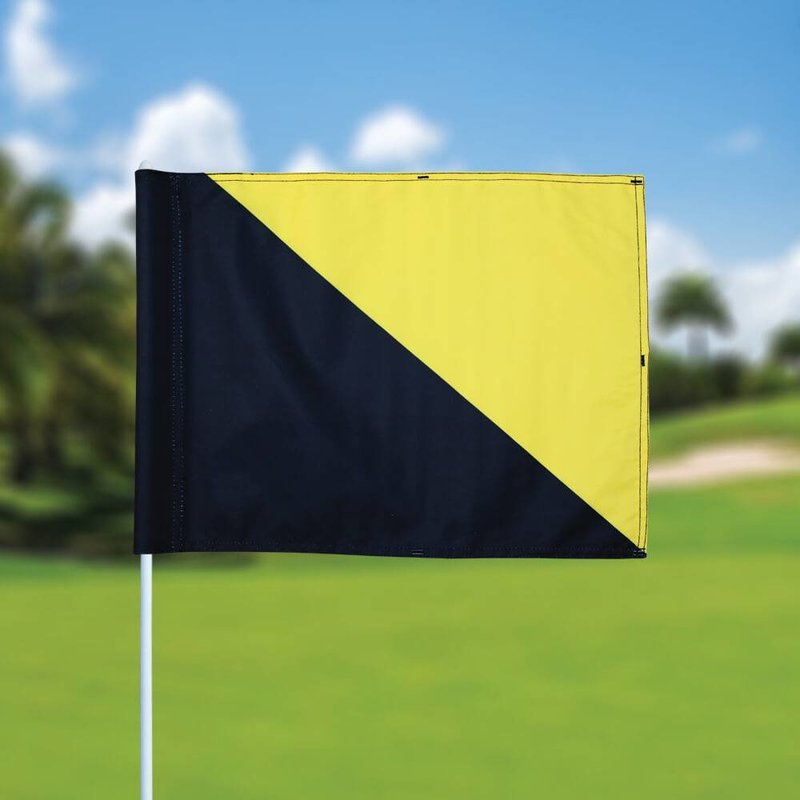 Golffahnen, semaphore, schwarz - gelb