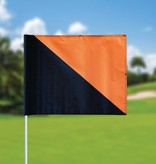 Golf flag, semaphore, black - orange