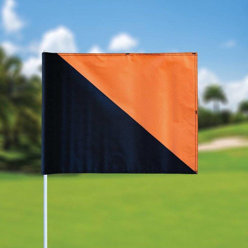 GolfFlags Golfvlag, semaphore, zwart - oranje