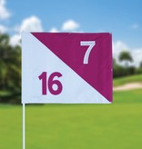 Golfvlag, semaphore, genummerd