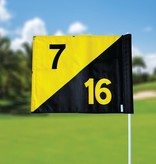 GolfFlags Golf flag, semaphore, numbered, black - yellow