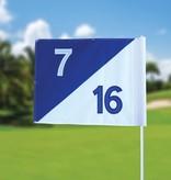 GolfFlags Golffahnen, semaphore, nummeriert, weiß - blau