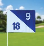 GolfFlags Golfvlag, semaphore, genummerd, wit - blauw