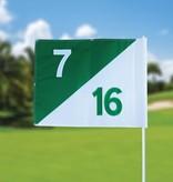 GolfFlags Golfvlag, semaphore, genummerd, wit - groen
