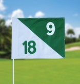 GolfFlags Golf flag, semaphore, numbered, white - green