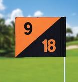 GolfFlags Golffahnen, semaphore, nummeriert, schwarz - orange