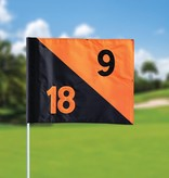 GolfFlags Golf flag, semaphore, numbered, black - orange