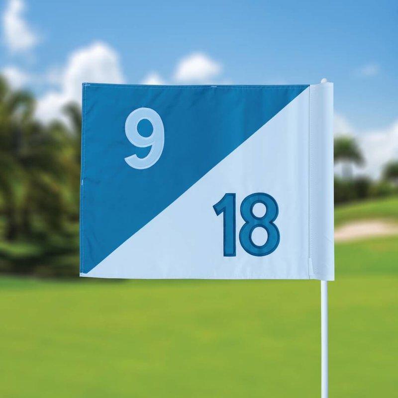 GolfFlags Golf flag, semaphore, numbered, white - light blue