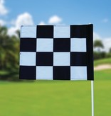 GolfFlags Golf flag, checkered, white - black