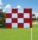 Golffahne, karriert, weiß - rot