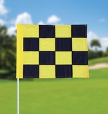 GolfFlags Golfvlag, checkered, zwart - geel