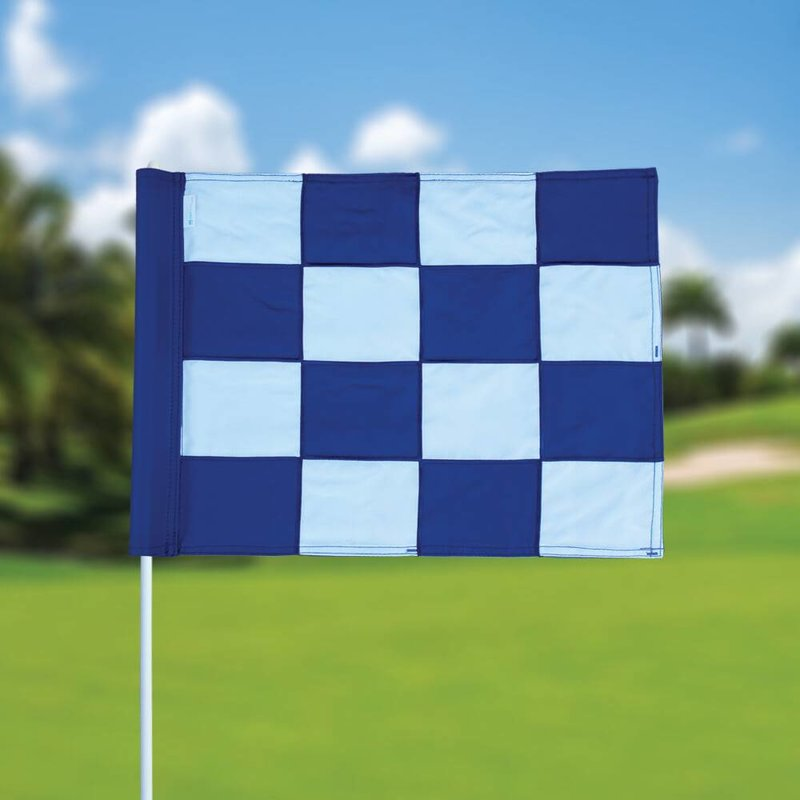 GolfFlags Golf flag, checkered, white - blue