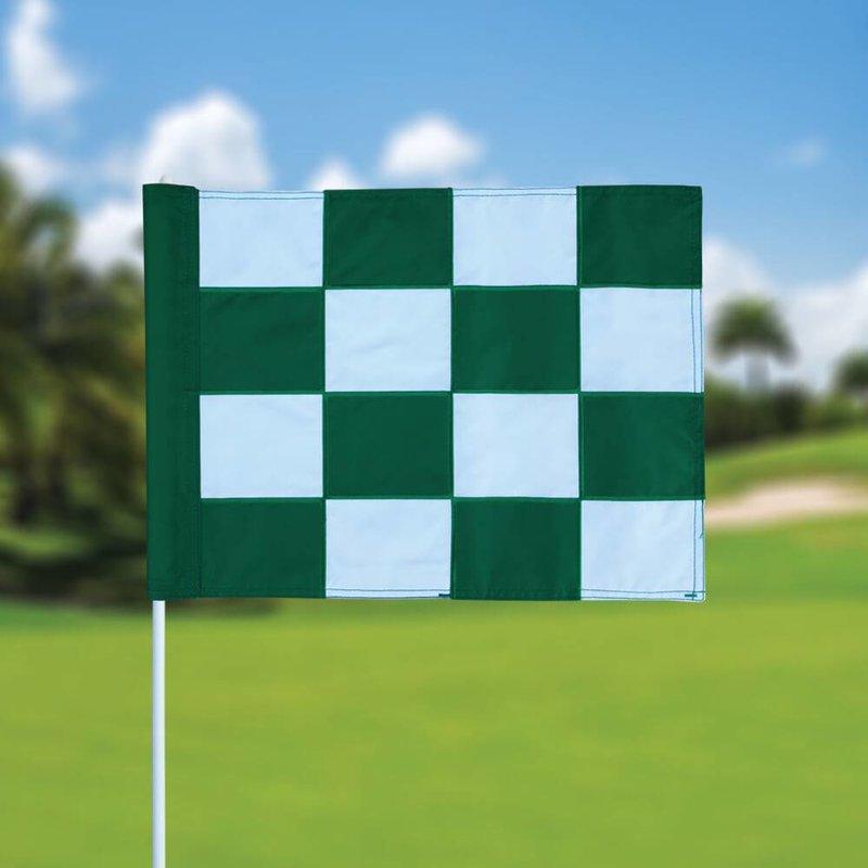 GolfFlags Golffahne, karriert, weiß - grün