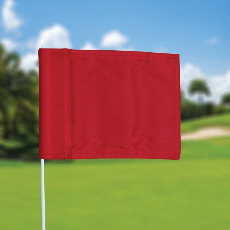 Putting green flag, plain, red