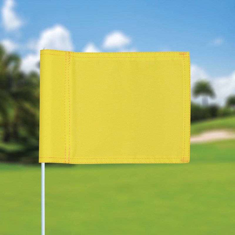 GolfFlags Putting green flag, plain, yellow