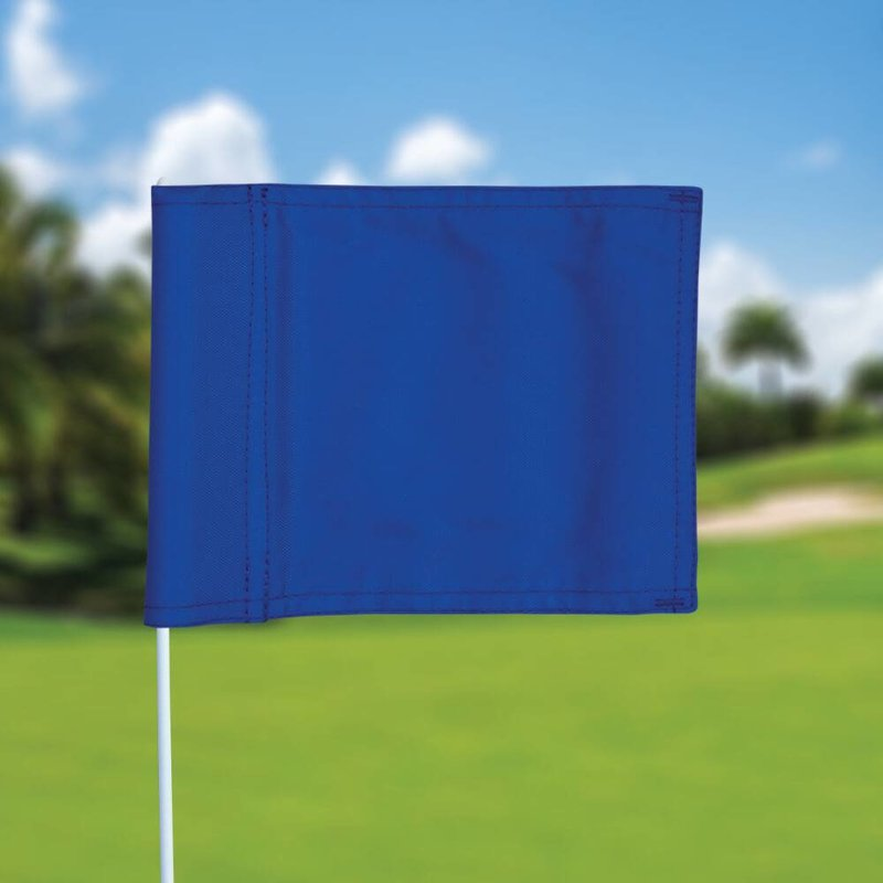 Putting green flag, plain, blue
