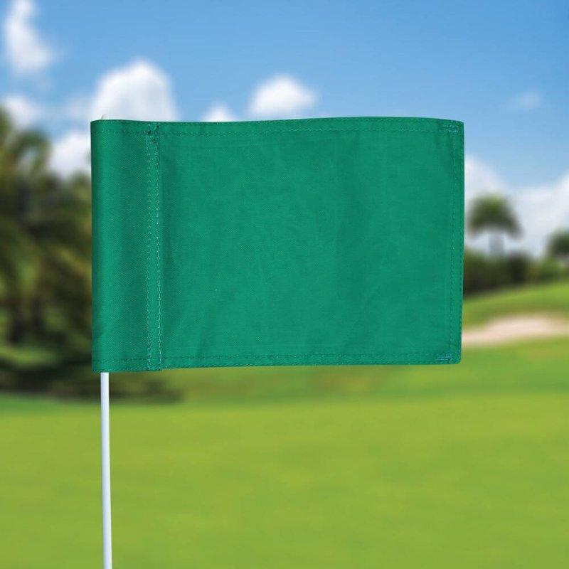 Putting green vlag, effen, groen