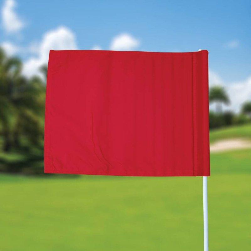 Golfvlag, effen, rood
