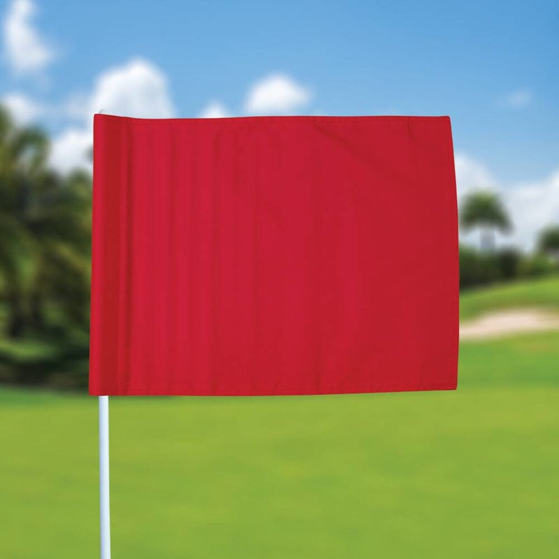 GolfFlags Golf flag, plain, red