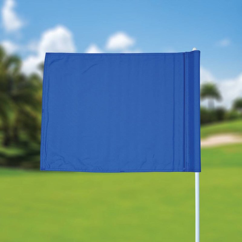 GolfFlags Golf flag, plain, blue