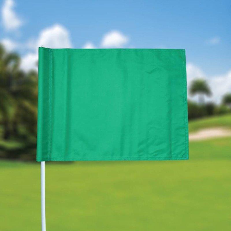 GolfFlags Golffahne, uni, grün