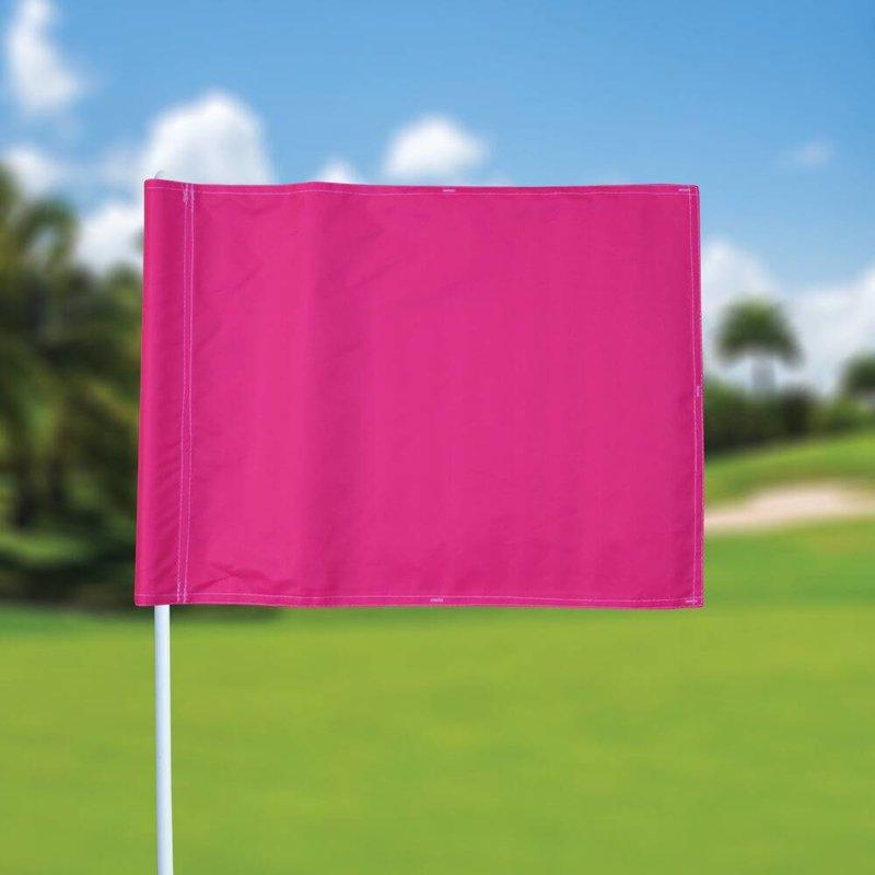 Golfvlag, effen, roze