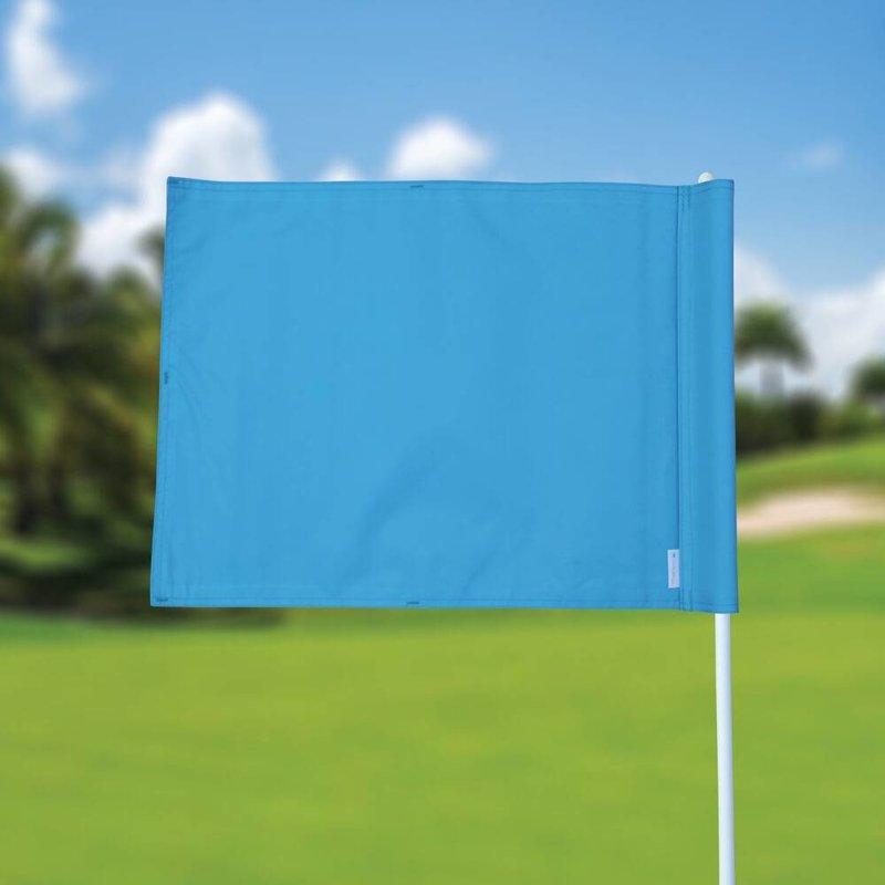 Golfvlag, effen, lichtblauw