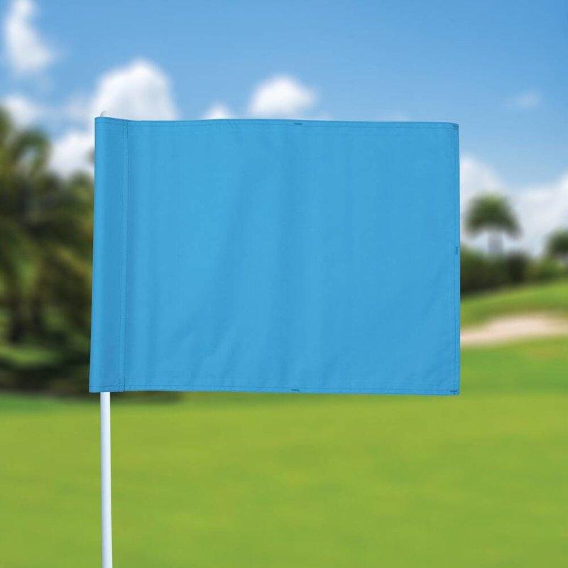 GolfFlags Golf flag, plain, light blue