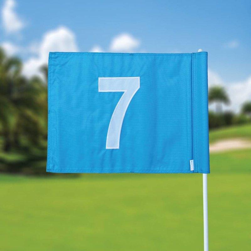 GolfFlags Golfvlag, genummerd, lichtblauw