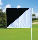 Golf flag, semaphore, white - black