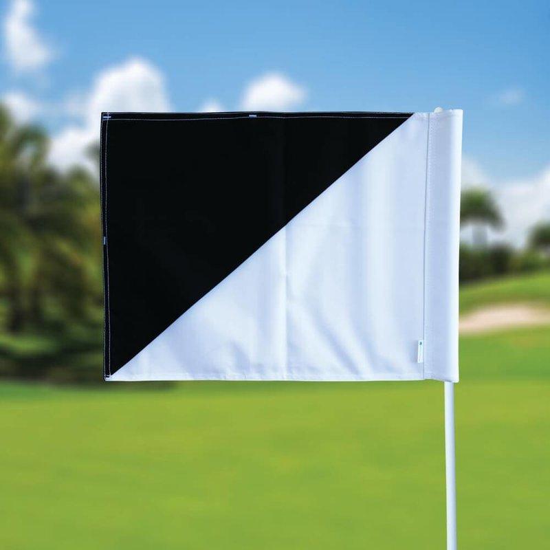 Golffahnen, semaphore, weiß - schwarz