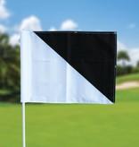 GolfFlags Golffahnen, semaphore, weiß - schwarz