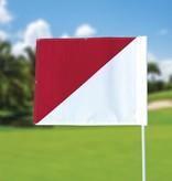 GolfFlags Golf flag, semaphore, white - red