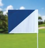 Golffahnen, semaphore, weiss - blau