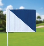 GolfFlags Golffahnen, semaphore, weiß - blau