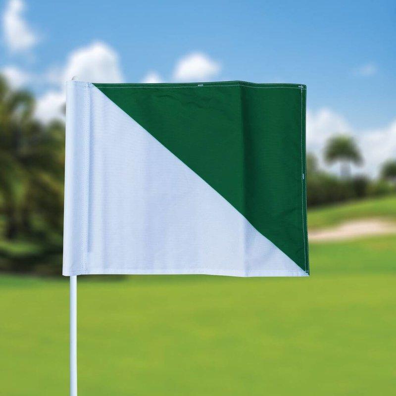 GolfFlags Golfvlag, semaphore, wit - groen