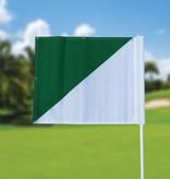 Golffahnen, semaphore, weiss - grün