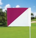 Golf flag, semaphore, white - pink