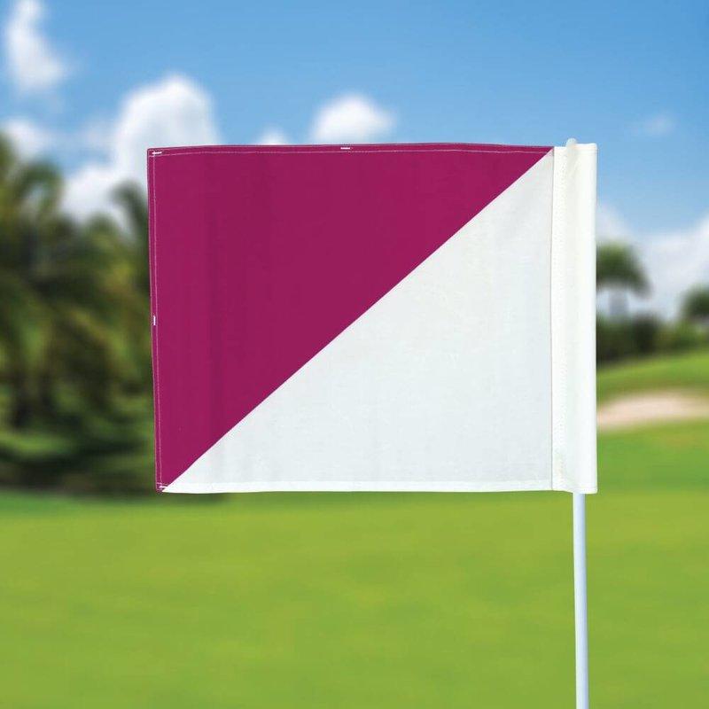 GolfFlags Golf flag, semaphore, white - pink