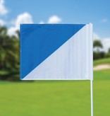 Golf flag, semaphore, white - light blue