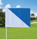 Golffahnen, semaphore, weiss - hellblau