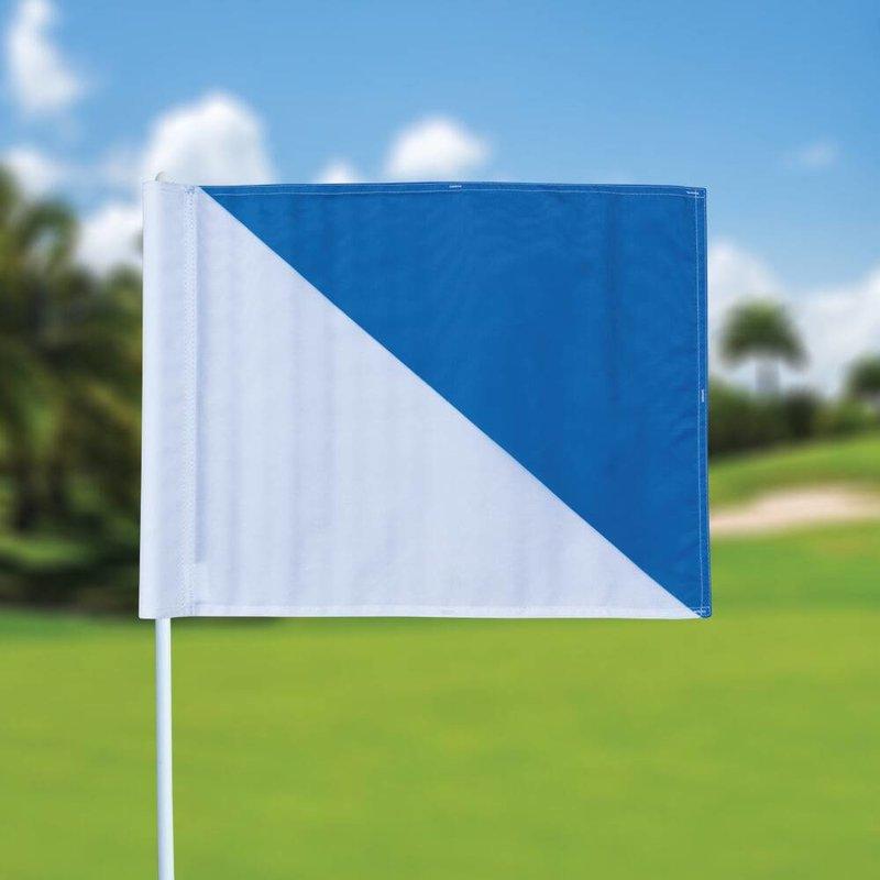 GolfFlags Golfvlag, semaphore, wit - lichtblauw