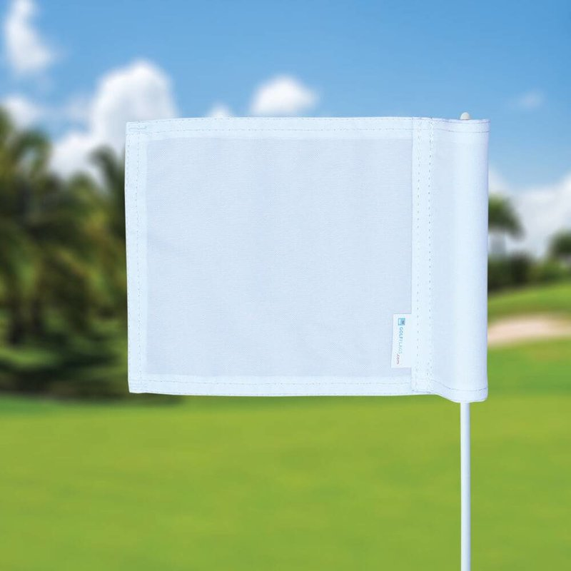 GolfFlags Putting green vlag, effen, wit