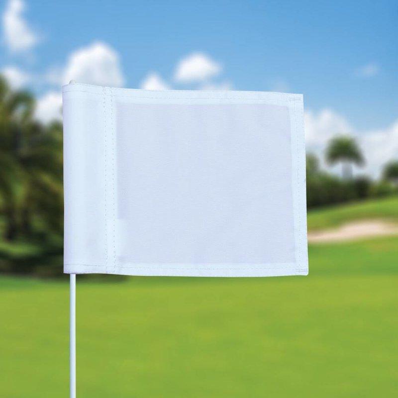 Putting green vlag, effen, wit
