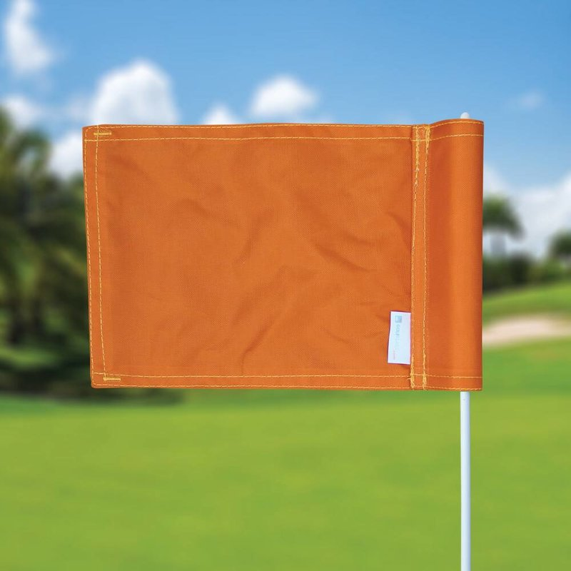 GolfFlags Putting green flag, plain, orange
