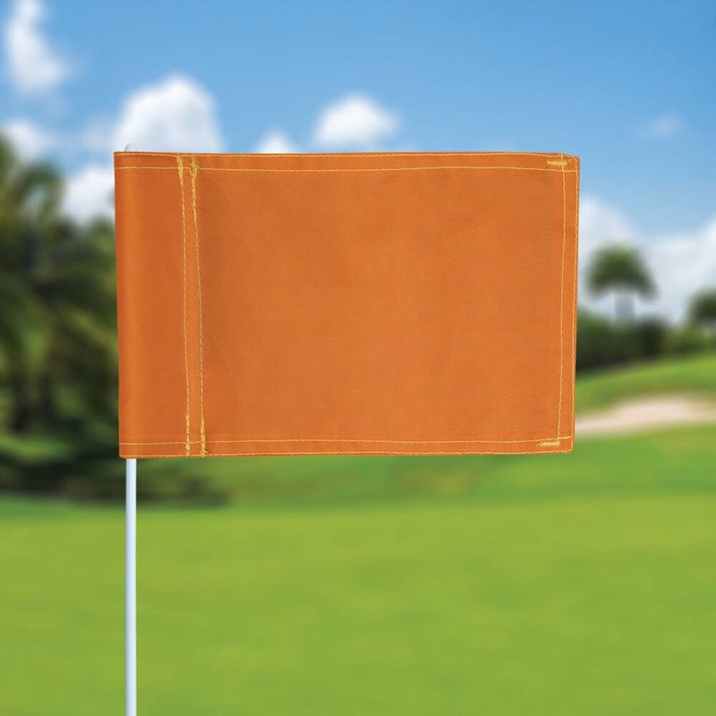 Putting green flag, plain, orange