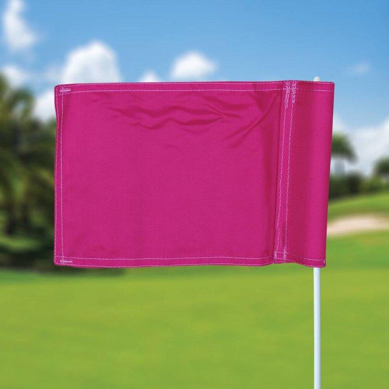 Putting green vlag, effen, roze