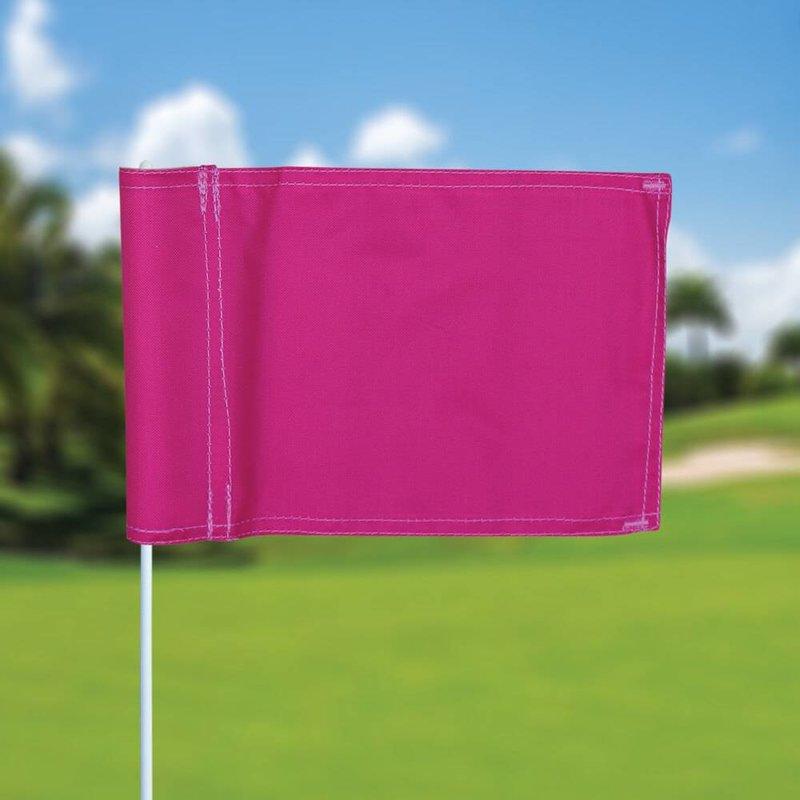 Putting green flag, plain, pink