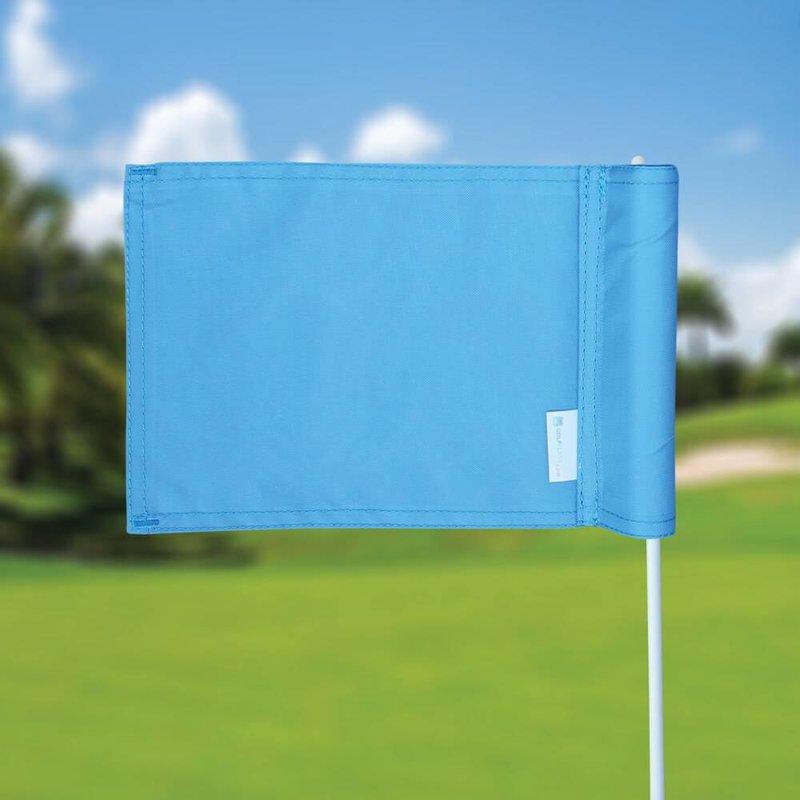 GolfFlags Putting green flag, plain, light blue